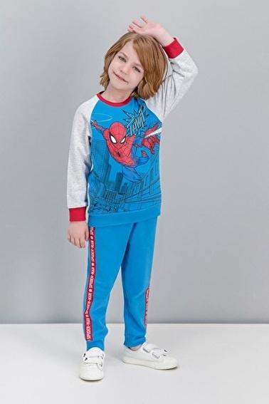 Spider-Man Spider Man Lisanslı Kırmızı Erkek Çocuk Eşofman Takımı Mavi